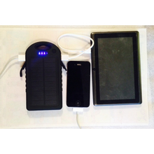 Camping water resistant Solar Charger 12000mAh (6 + phone charges)