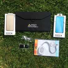 2) Weekend Camping 12w Solar, 2 x Power Banks, LED light, usb car charger, Special Offer £25 Saving