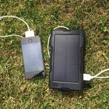 Camping + IP67 Waterproof Solar Charger 5v dual USB 13000mAh (5 + charges)