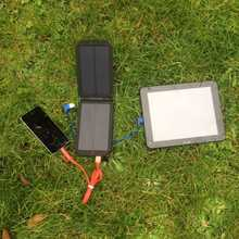 MSC Camping + 3w triple USB 7000mAh Solar Charger (2+ phone charges)