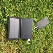 MSC Travel 3w dual USB 10000mAh Solar Charger (3+ phone charges)
