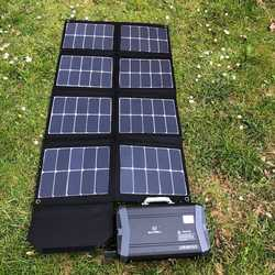 MSC 130W 5v/12v/19v SunPower Folding Solar charger