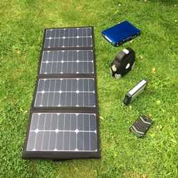 MSC 90W 5v/12v/19v SunPower Folding Solar charger
