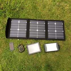 MSC SunPower 45W/60W USB 5v, 12v, 19v Portable Solar Panel Charger