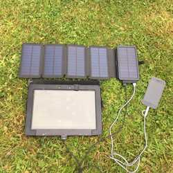 Travel + 7.5W Solar Charger & detachable Power Bank, 10000mAh (4 + phone charges)