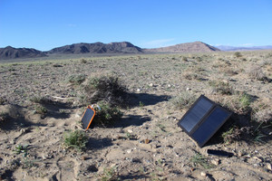 Mobile Solar Chargers in the Gobi Desert