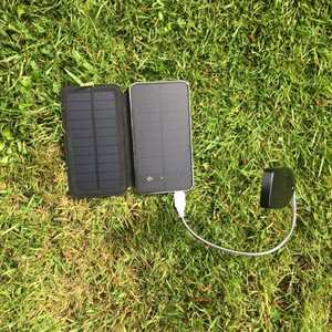 Camping solar phone charger
