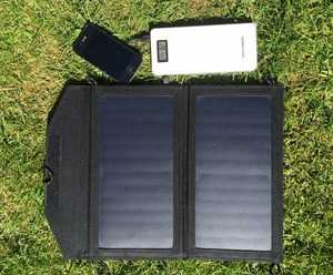 MSC 12w Folding Solar & QC Power Bank
