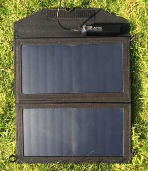 MSC 12w Folding Solar Panel and MSC Power Stick