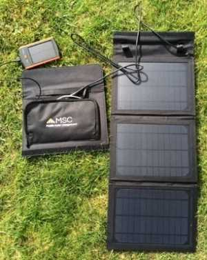 MSC 15w Solar Panel charger and Travel charger