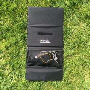 MSC 18W Solar panel charging Tablet and iPhone