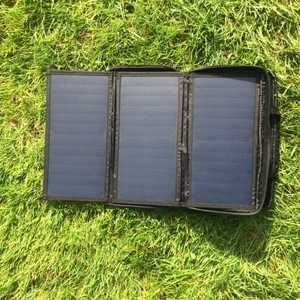 MSC 20W 5v/18v Folding Solar Charger Open