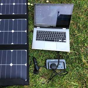 MSC 90W SunPower Solar Panel running inverter