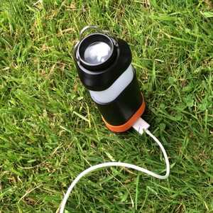 MSC Camping Lantern, Torch & Power Bank Plugged In
