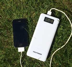 MSC Quick Charge 15000mAh Power Bank Charging iPhone