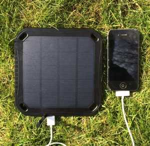 MSC Solar charger and iPhone