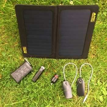 MSC Travel and Trek 13W Solar Panel Charger, 10,000/2600mAh Power Banks, 2 x Led Light, Torch £25 off
