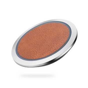 Qi Fast Charge Leather Wireless Charging Disc