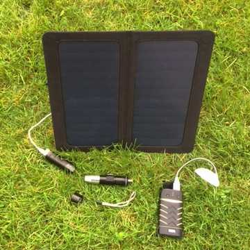 MSC Travel and Trek 13W Solar Panel Charger, 6000/2600mAh Power Banks, 2 x Led Light, Torch £25 off