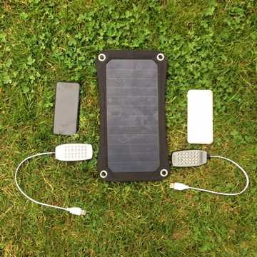 MSC Weekend Camping 6.5/13w Solar, 2 x Power Banks, 2 x LED light, USB car charger, £20 Saving