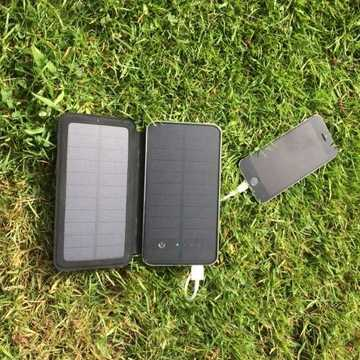 MSC Camping + 3w dual USB 10000mAh Solar Charger (3+ phone charges)
