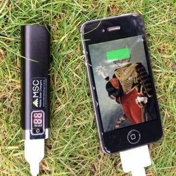 MSC Power Stick, Samsung Batteries, 2600mAh  (1-2 phone charges)