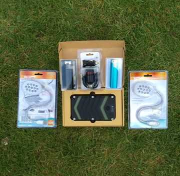Festival Power 3 x Chargers 2 x LED light, usb torch, usb car charger, Special Offer £30 saving