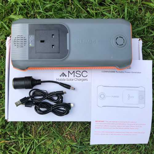 MSC 115W DC/AC Power Bank & Laptop