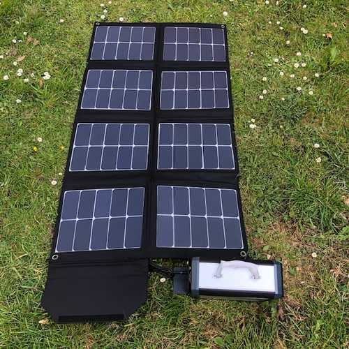 MSC 130w 5-19v Folding Solar & 300Wh Power Bank
