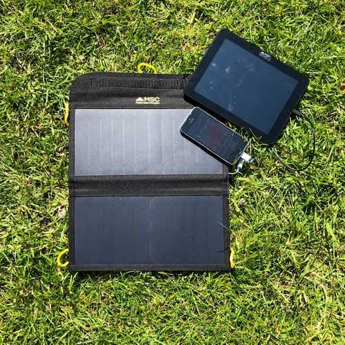 MSC 13W Solar Panel charging iPhone & Tablet