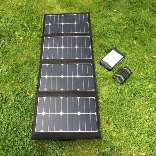 MSC 90w 5-19v Folding Solar & 52Ah Power Bank