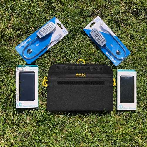 MSC W/E Camping with 13W panel, 2 x MSC Power Banks