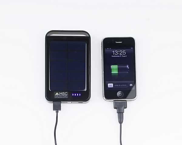 Executive Solar Charger Plus, 6000Mah  (3 + phone charges)