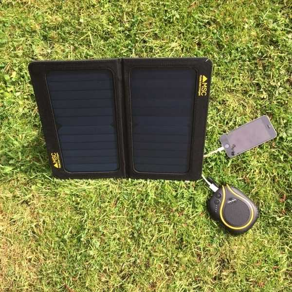 MSC 13W SunPower folding Solar Panel Charger 5v/2.A dual USB