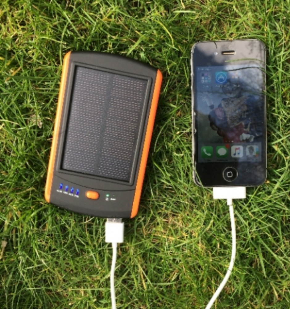 Msc Travel Solar Charger 6000mah 2 Phone Charges
