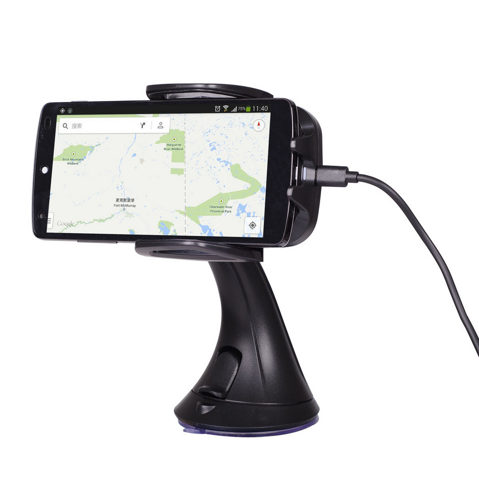 Qi Wireless In Car Charging Pad And Holder