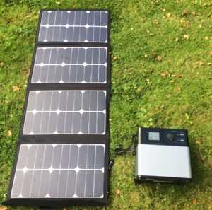 MSC 105Ah Super Power Bank and MSC 80W Solar Panel